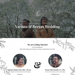 Varinta & Bregas Wedding Invitation